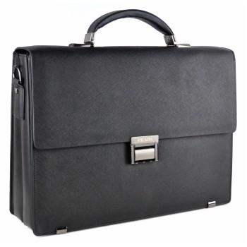 Кожаный портфель P8055 black