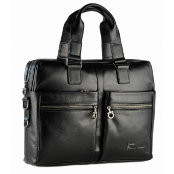 Кожаная сумка SF 78758 black