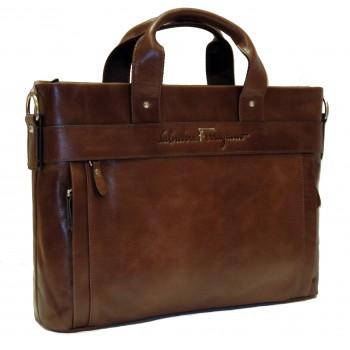 Кожаная сумка SF 4098-5 brown
