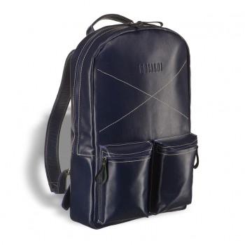 Кожаный рюкзак BRIALDI Bismark navy