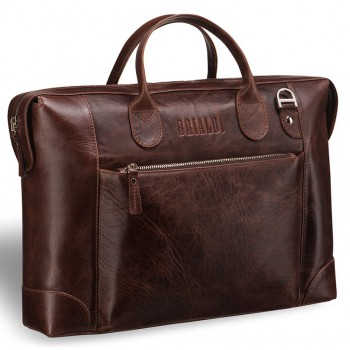 Респектабельная мужская сумка BRIALDI Atlanta antique brown