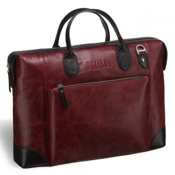 Респектабельная мужская сумка BRIALDI Atlanta antique granate