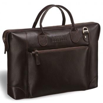 Респектабельная мужская сумка BRIALDI Atlanta relief brown