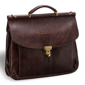 Классический портфель BRIALDI Bergamo antique brown