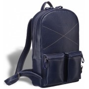 Кожаный рюкзак BRIALDI Bismark relief navy