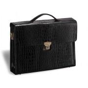Женский деловой портфель BRIALDI Blanes (Бланес) croco black