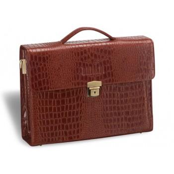 Женский деловой портфель BRIALDI Blanes (Бланес) croco brown