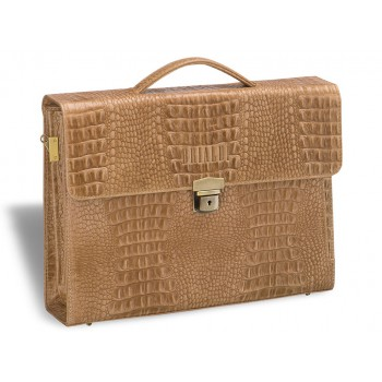 Женский деловой портфель BRIALDI Blanes (Бланес) croco sand
