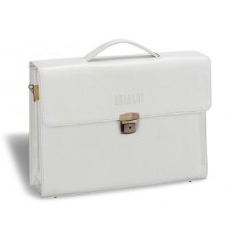 Женский деловой портфель BRIALDI Blanes (Бланес) relief white