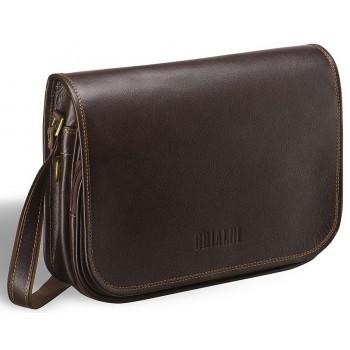 Деловая сумка через плечо BRIALDI Cambridge (Кембридж) brown