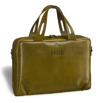 Женская деловая сумка BRIALDI Elche (Эльче) relief mustard