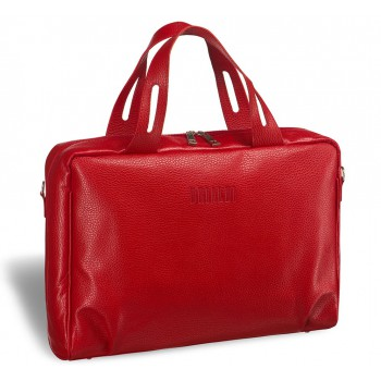Женская деловая сумка BRIALDI Elche (Эльче) relief red