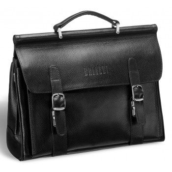 Мужской портфель BRIALDI Hutton relief black