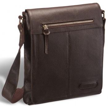Мужская сумка через плечо BRIALDI Livorno relief brown