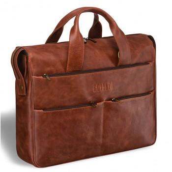 Вместительная деловая сумка BRIALDI Manchester antique red