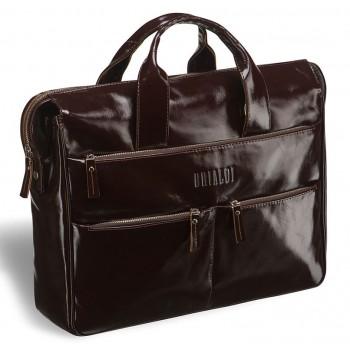 Вместительная деловая сумка BRIALDI Manchester shiny brown