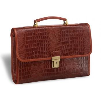 Женский деловой портфель BRIALDI Murcia (Мурсия) croco brown