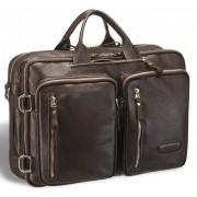 Мужская сумка-трансформер BRIALDI Norman relief brown
