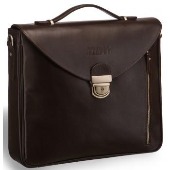 Высокий деловой портфель BRIALDI Planck brown