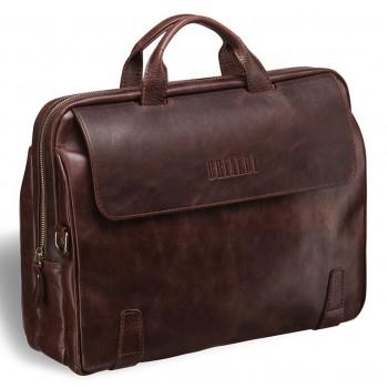Объемная деловая сумка BRIALDI Seattle antique brown