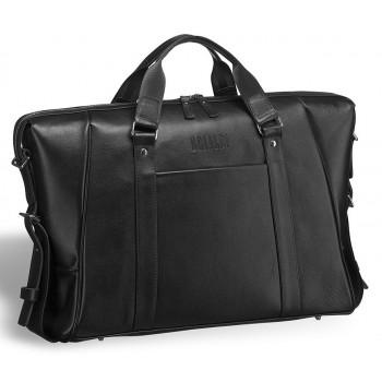 """Деловая сумка Valvasone (Вальвазоне) black - вмещает ноутбук 17"""""""