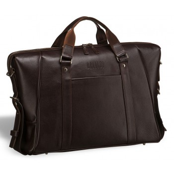 Деловая сумка Valvasone (Вальвазоне) brown - вмещает ноутбук 17