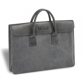 Женская деловая сумка BRIALDI Vigo (Виго) relief grey