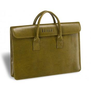 Женская деловая сумка BRIALDI Vigo (Виго) relief mustard