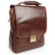 Вертикальный портфель Chiarugi 2611 brown