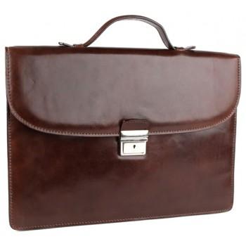 Кожаный портфель Chiarugi 4320 brown