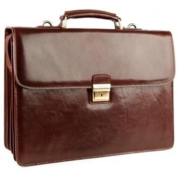 Кожаный портфель Chiarugi 4399 brown