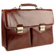 Кожаный портфель Chiarugi 4431 brown