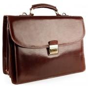 Кожаный портфель Chiarugi 4470 brown