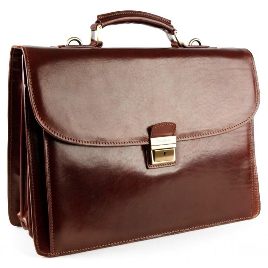46c9ab7182c5 CarryBag - Кожаный портфель Chiarugi 4470 коричневого цвета