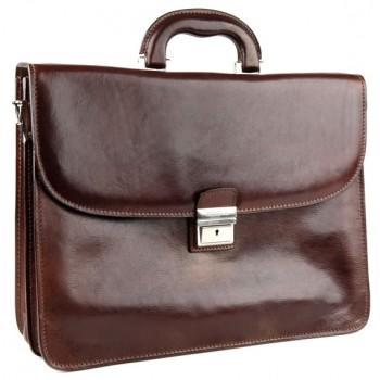 Кожаный портфель Chiarugi 4511 brown