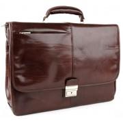Кожаный портфель Chiarugi 4538 brown