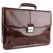 Кожаный портфель Chiarugi 4559 brown