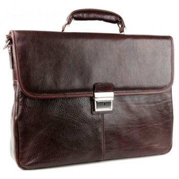 Кожаный портфель Chiarugi 94575 brown