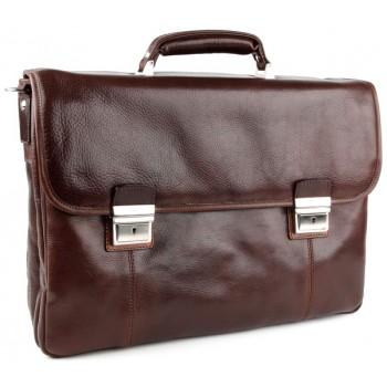Кожаный портфель Chiarugi 94584 brown