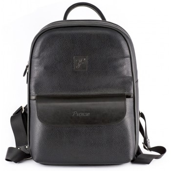 Кожаный рюкзак Frenzo 0406 black