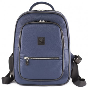 Кожаный рюкзак Frenzo 1701 blue