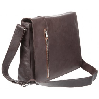 Деловая сумка через плечо Gianni Conti 1042533 dark brown