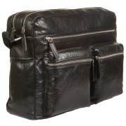 Деловая сумка через плечо Gianni Conti 1482307 black