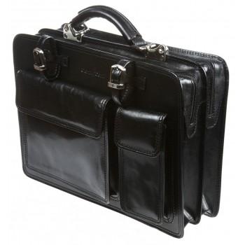 Кожаный портфель Gianni Conti 901010 black