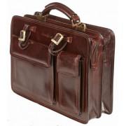 Кожаный портфель Gianni Conti 901010 brown