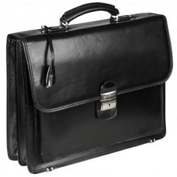 Кожаный портфель Gianni Conti 901015 black