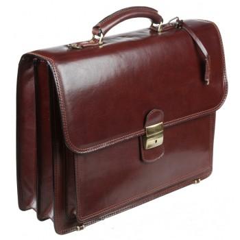 Кожаный портфель Gianni Conti 901015 brown