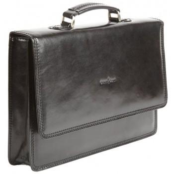 Кожаный портфель Gianni Conti 901040 black