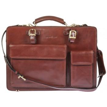 Кожаный портфель Gianni Conti 9401003 brown