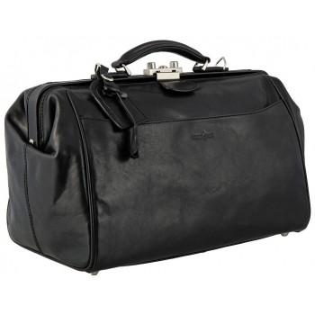Саквояж кожаный Gianni Conti 9402706 black